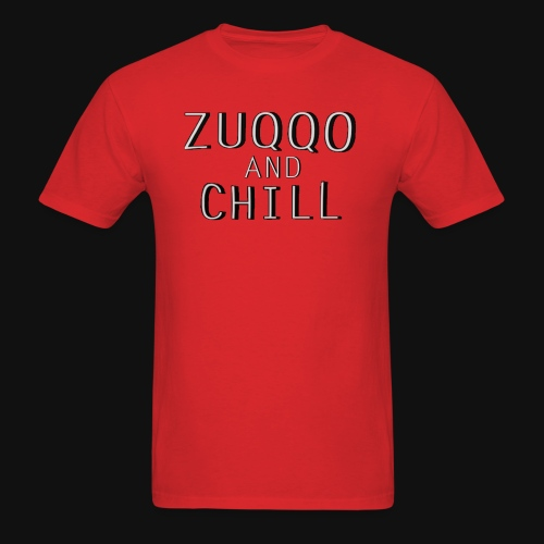 Iconic Red Zuqqo and Chill T-Shirt - Men's T-Shirt