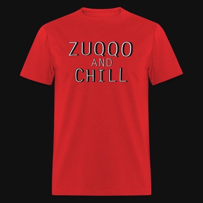 20e98d78 Zuqqo Apparel | Iconic Red Zuqqo and Chill T-Shirt - Mens T-Shirt