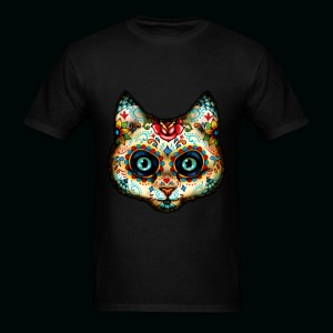 Sugar Skull Cat - Men's T-Shirt