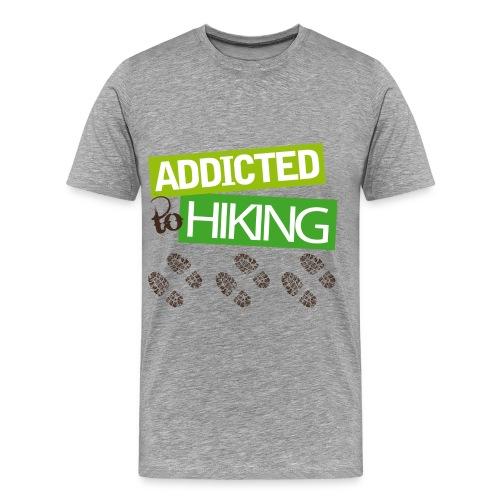 Addicted to Hiking M - Men's Premium T-Shirt