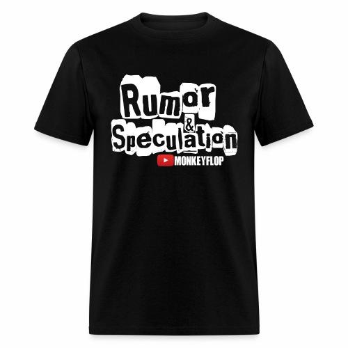 Rumor & Speculation MonkeyFlop Regular Black T shirt  - Men's T-Shirt