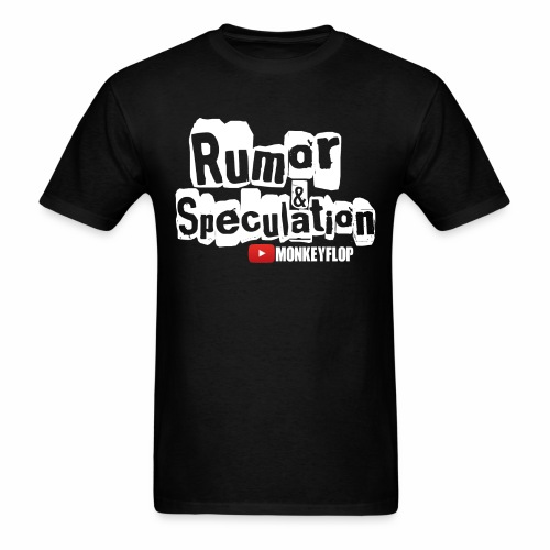 Rumor & Speculation MonkeyFlop Regular Black T shirt  - Men's T-Shirt