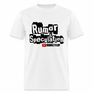 Rumor & Speculation MonkeyFlop Regular White T shirt  - Men's T-Shirt