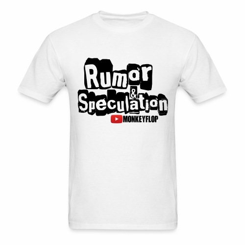 Rumor & Speculation MonkeyFlop Regular White T shirt  - Men's T-Shirt