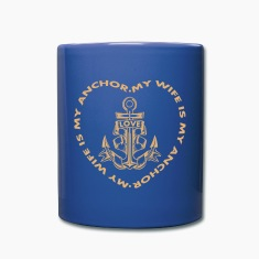 My Wife Is My Anchor Mugs & Drinkware