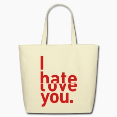 I hate love you couple relationship Bags & backpacks