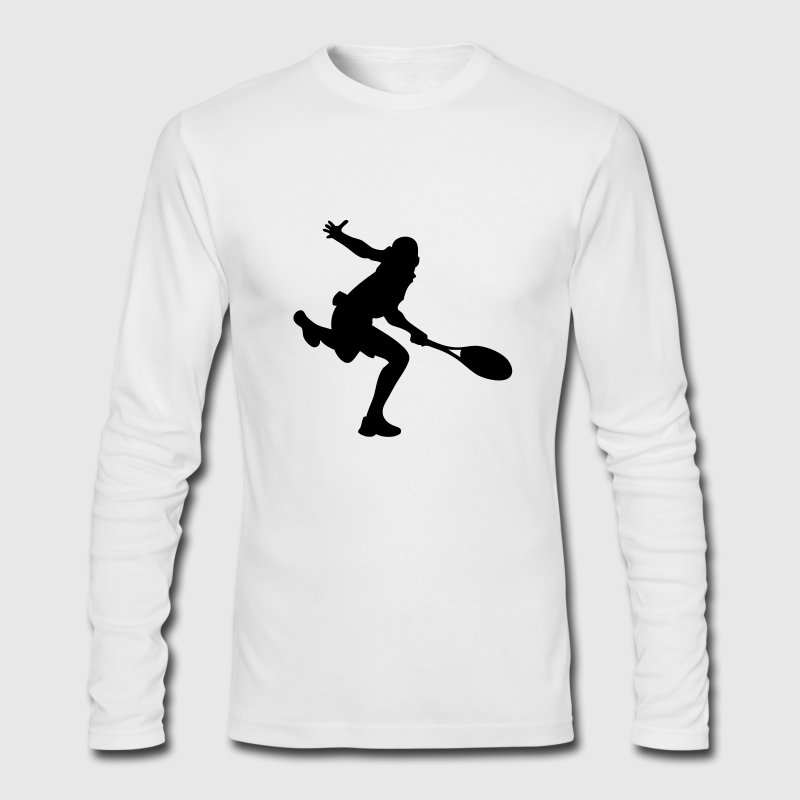 Tennis Player Long Sleeve Shirts - Men's Long Sleeve T-Shirt by Next Level