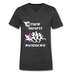 TWB Misfit Runners Mens w/ Name on Back - Men's V-Neck T-Shirt by Canvas