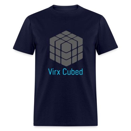 Dark Blue Virx Cubed shirt - Men's T-Shirt