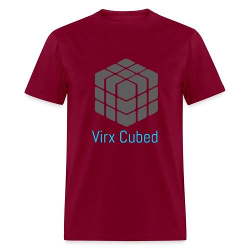 Red Virx Cubed shirt - Men's T-Shirt
