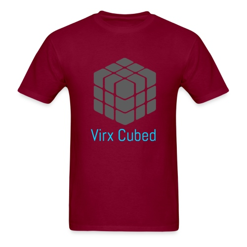 Red Virx Cubed shirt - Men's T-Shirt