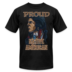 Proud Native American - Men's T-Shirt by American Apparel