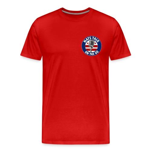 Mic and DC Flag (Red) - Men's Premium T-Shirt