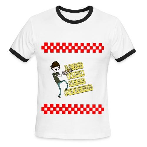 LessThanNess Pizzeria Ringer - Men's Ringer T-Shirt