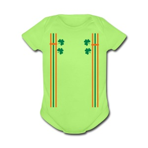 st.Patty's day shoulder strap Baby Short Sleeve One Piece - Short Sleeve Baby Bodysuit