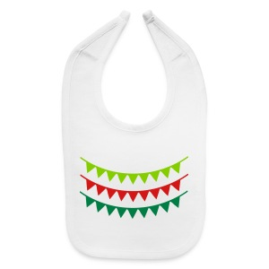 flags pattern  Baby Bib - Baby Bib