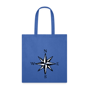 Compass Rose Vintage Bicolor Tote Bag - Tote Bag