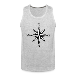 Compass Rose Vintage Bicolor Tank Top - Men's Premium Tank