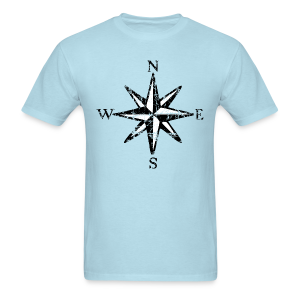 Compass Rose Vintage Bicolor T-Shirt - Men's T-Shirt
