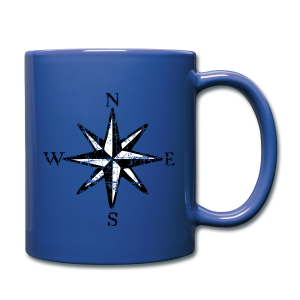 Compass Rose Vintage Bicolor Coffee Mug - Full Color Mug
