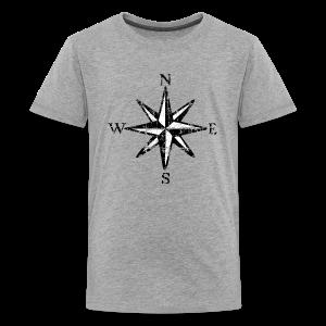 Compass Rose Vintage Bicolor Kid's T-Shirt - Kids' Premium T-Shirt