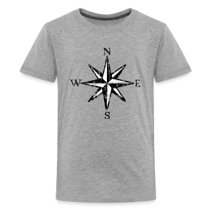 Compass Rose Vintage Bicolor Kid's T-Shirt - Kids' Premium T-Shirt