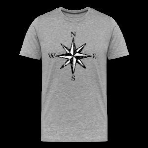 Compass Rose Vintage Bicolor T-Shirt - Men's Premium T-Shirt