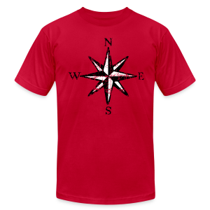 Compass Rose Vintage Bicolor T-Shirt - Men's T-Shirt by American Apparel