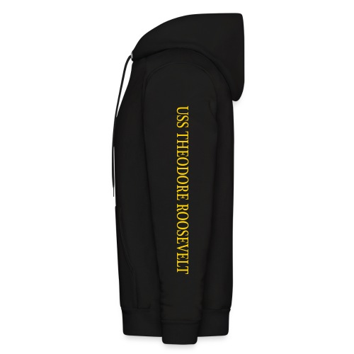USS THEODORE ROOSEVELT 1988 MAIDEN TIGER CRUISE HOODIE with Sleeve Text - Men's Hoodie