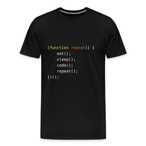 Eat, Sleep, Code, Repeat - Men's Premium T-Shirt