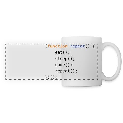 Eat, Sleep, Code, Repeat - Panoramic Mug
