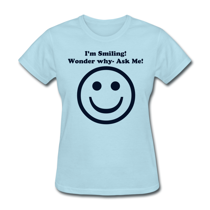 Ladies Standard T- Smiling (Front) - Women's T-Shirt