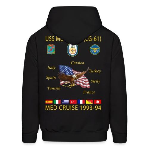 USS MONTEREY 1993-94 CRUISE HOODIE - Men's Hoodie