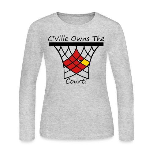 Women's C'Ville Owns the Court! long-sleeve - Women's Long Sleeve Jersey T-Shirt