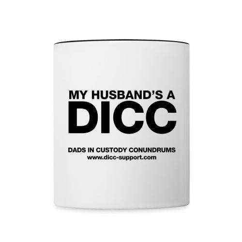 My Husband's a DICC Mug - Contrast Coffee Mug