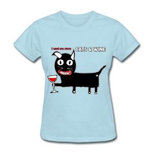 Cats & Wine Woman's T-Shirt - Women's T-Shirt