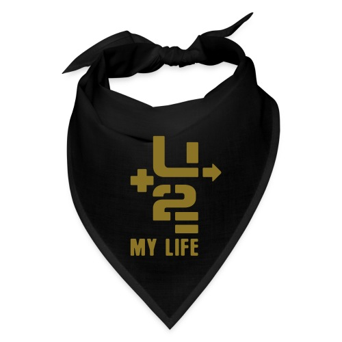 U+2=MY LIFE - front print gold - one size - multi colors - Bandana