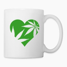 cannabis love Mugs & Drinkware