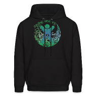 Hoodies ~ Men's Hoodie ~ Genital Autonomy Symbol 2-Sided / Text Change Available