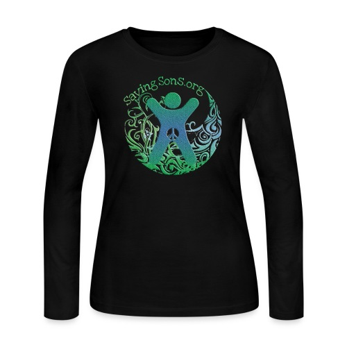 Genital Autonomy Symbol 2-Sided / Text Change Available - Women's Long Sleeve Jersey T-Shirt
