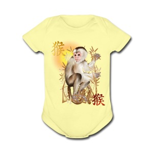 Year Of The Monkey - Short Sleeve Baby Bodysuit