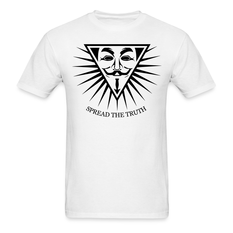 Anonymous NWO Spread the - Men's T-Shirt
