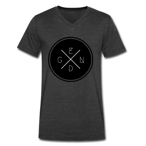 Gen D: Men's Grey V-Neck - Men's V-Neck T-Shirt by Canvas