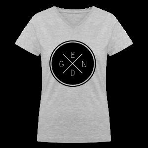 Gen D: Women's Grey V-Neck - Women's V-Neck T-Shirt