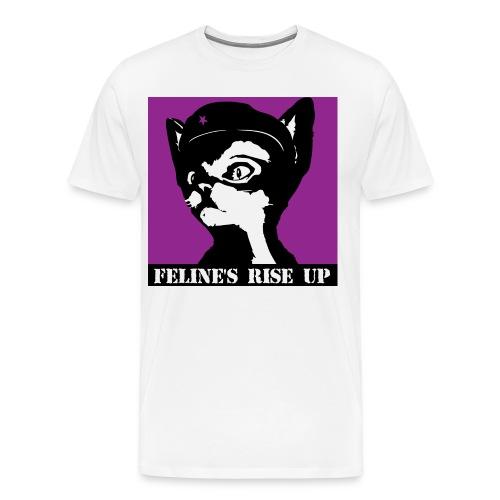 Felines Rise Up - Men's Premium T-Shirt