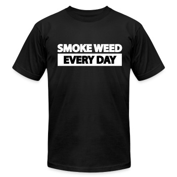 SMOKE WEED EVERY DAY - Men's T-Shirt by American Apparel