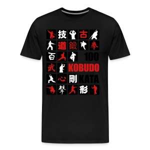 2016 100 Kobudo Kata panel blk/red - Men's Premium T-Shirt