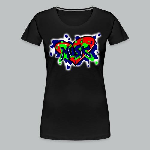 Graffiti Music - Women's  - Women's Premium T-Shirt