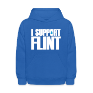 Sweatshirts ~ Kids' Hoodie ~ I Support Flint (Net Proceeds to flintkids.com)