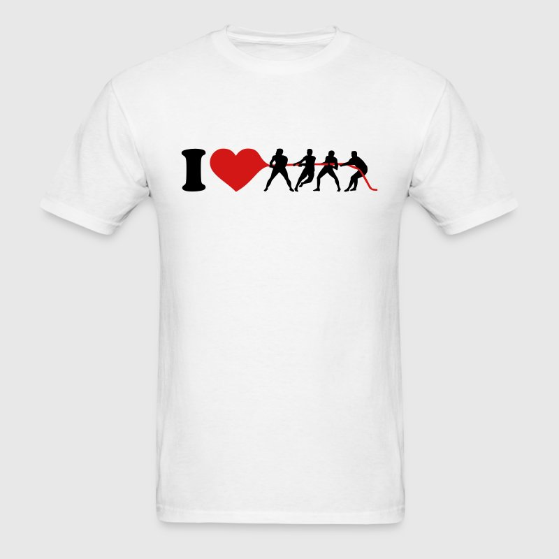 I love Tug of war T-Shirts - Men's T-Shirt